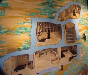 Схема катакомб