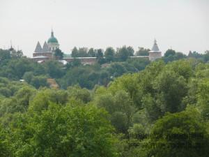 Вид на Зарайский Кремль со смотровой площадки у святого источника «Белый Колодец»