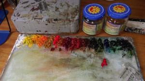 Скоро эти краски превратятся в чудные картины